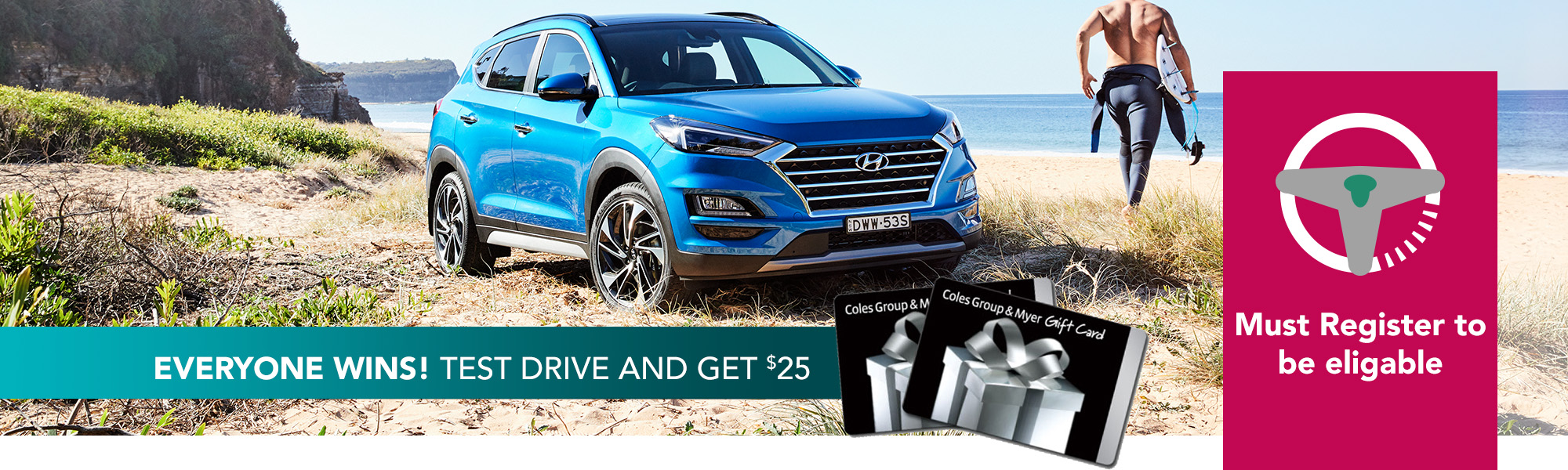 $25 Test Drive and win!